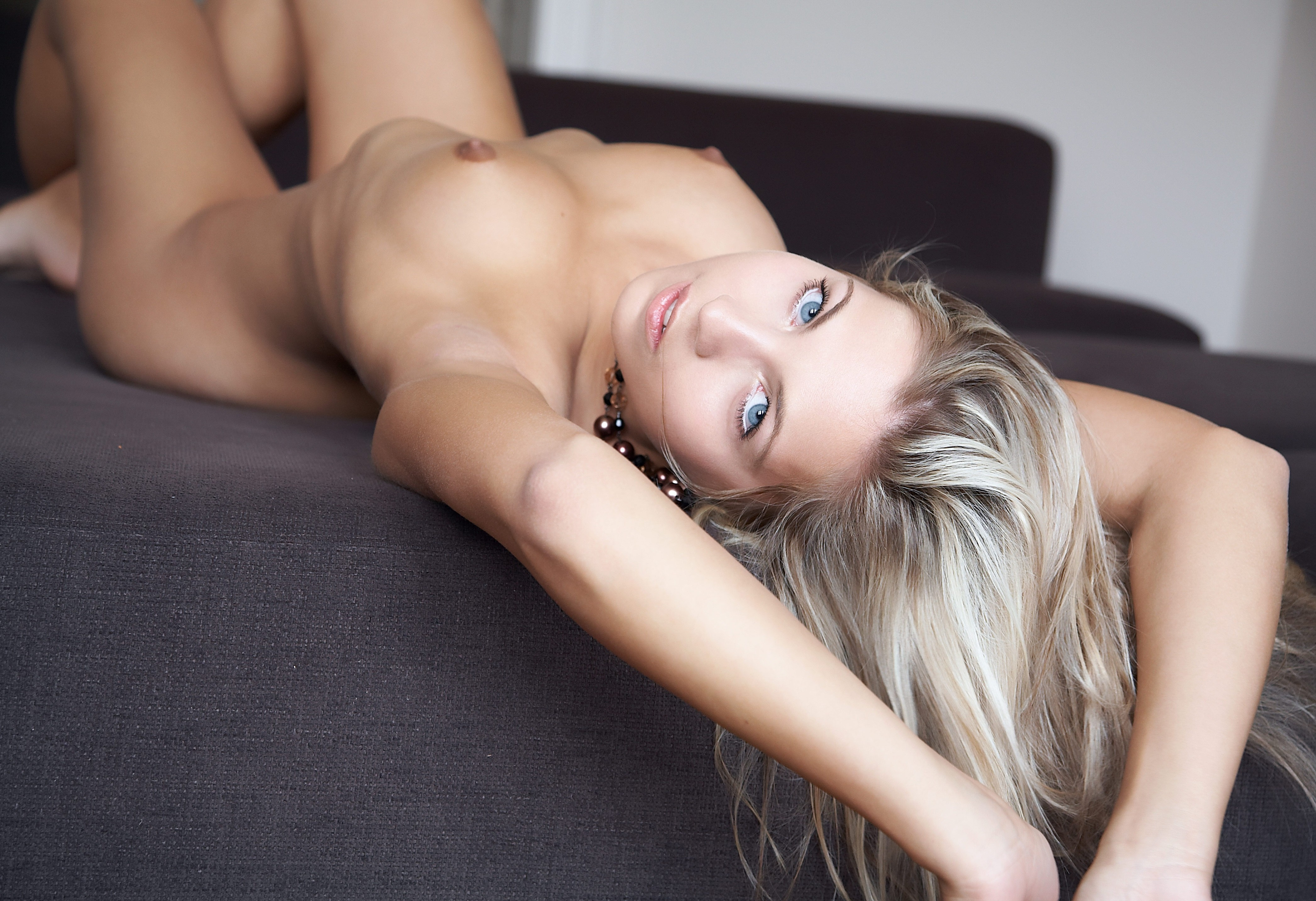 Blonde woman naked