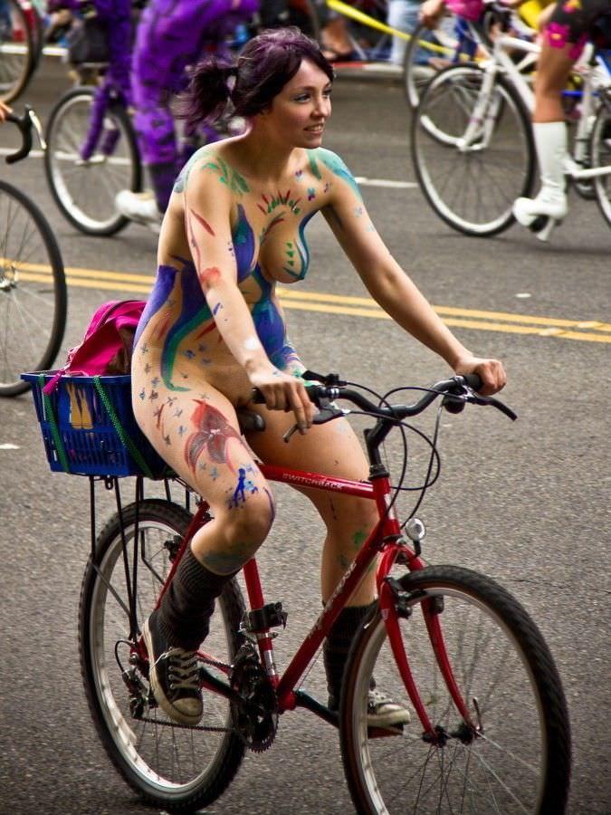 Biking while naked